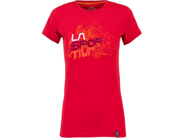 La Sportiva Cubic T-Shirt Donna, garnet